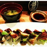 Dragon roll with soup