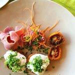 Poached Eggs, Ham