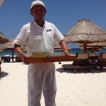 Sergio one of the Concierge in Excellence Club. He serves around the pool and on Excellence Club