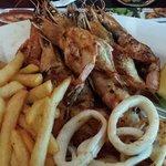 prawn and calamari combo