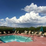 Pool deck looking toward Prescott Valley