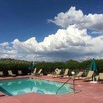 Pool deck looking toward Prescott Valley