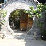 porche de l'accueil