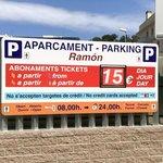 parking info opposite hotel
