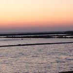 Vista al tramonto delle saline
