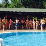 Daytime games around the pool!
