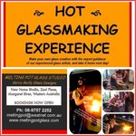 Make your own hot glass piece with our glassmaking experience - 1 hour/half day/full day. Bookin