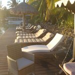 Beach chairs, but shallow snorkeling and nothing to see except sea cucumbers