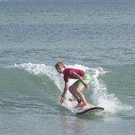 my son at rip curl kuta beach