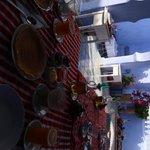Desayuno en la terraza de la azotea