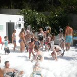 Fun foam party
