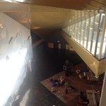 vista do corredor para o segundo atrio