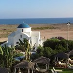 Small Greek Church and cabanas