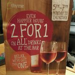 The current (as of August 2014) happy hour offer