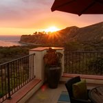 Coucher de soleil depuis terrasse d'une casita