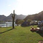 de kampeerplaats
