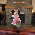 Taking a pic with Mini Mouse!