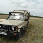 Unser Safari-Fahrzeug mit William als Fahrer und Guide