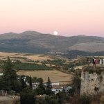 Moon rise over nearby Ronda