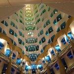 Looking up into Burj Al Arab