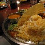Nice novel presentation of food as a Thali