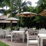 Hotel's bar and restaurant on the beach