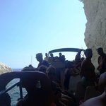 Entering caves in boat