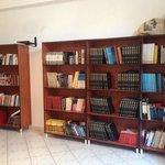 bookshelves in room