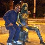 Rua das Pedras. Estatua da atriz francesa Brigitte Bardot