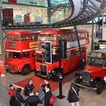 Interno del museo dei trasporti