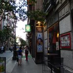 side street from hotel