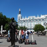 Plaza Santa Ana during the segway tour