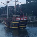 The pirate ship of the dinner cruise