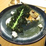 Blue Eye Trevalla with Crispy Kale, Cauliflower Puree and other flavours