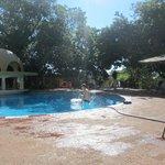 Pool area bar.
