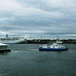 shields ferry in forground