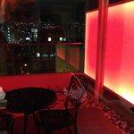 Balcony with 'mood lighting'