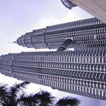ホテルからペトロナス・ツイン・タワーを望む