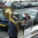 Music provided to fill the gaps between the air displays