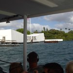 onboard the shuttle to Arizona memorial