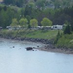 Our view of our usual lodging on Burlington Bay...the city campground.