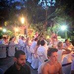 buffet and wedding setting