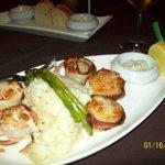 Delicious seared scallops
