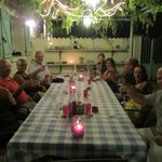 Dinner on patio
