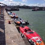 Speed boats at torquay harbour