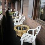 Riesiger Balkon der Nature Suite