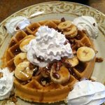 Great banana foster waffle
