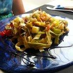 Vegetarian, fresh pasta dish. Very nice.