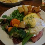 Gammon steak with egg AND pineapple!