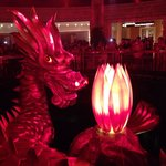 The dragon show, every hour in the hotel. A must see!